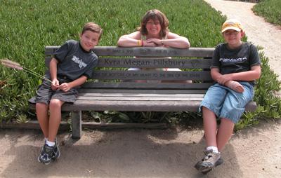 The boys on Kyra's bench