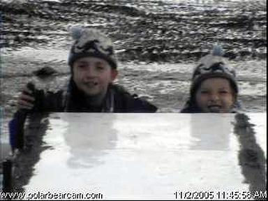 Steven and Sean on the Polar Bear Cam